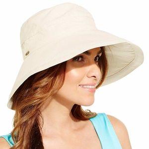 SCALA Women's Cotton Big Brim Sun Hat, Natural O/S